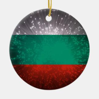 Fogo-de-artifício da bandeira de Bulgária Enfeites Para Arvores De Natal
