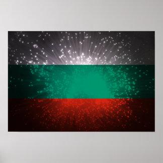 Fogo-de-artifício da bandeira de Bulgária Pôsteres