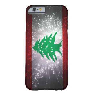 Fogo-de-artifício da bandeira de Líbano Capa Barely There Para iPhone 6