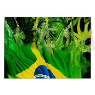 Fogo de Brasil Cartão Comemorativo