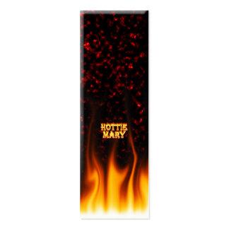 Fogo de Hottie Mary e mármore do vermelho das Cartão De Visita Skinny