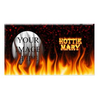 Fogo de Hottie Mary e mármore do vermelho das Cartão De Visita