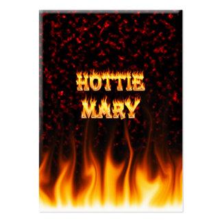 Fogo de Hottie Mary e mármore do vermelho das Cartão De Visita Grande