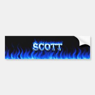 Fogo de Scott e projeto azuis do autocolante no vi Adesivo