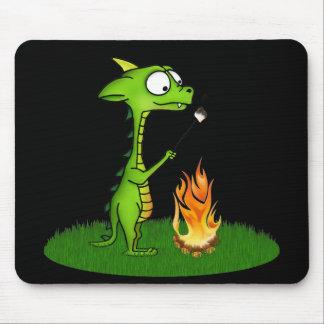 Fogo do dragão mouse pad