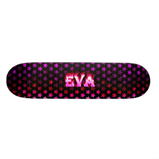 Fogo do rosa do skate de Eva e projeto das chamas