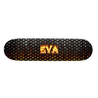 Fogo do skate de Eva e projeto das chamas