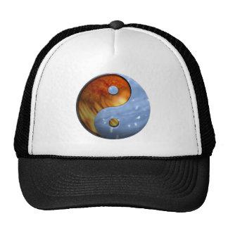 Fogo e água Yin e símbolo de Yang Boné