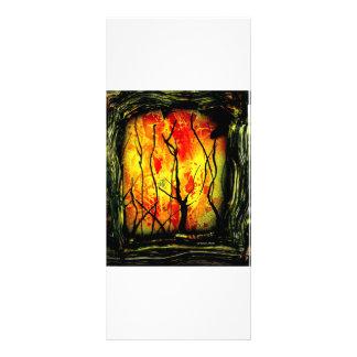Fogo e pintura queimada da pintura pistola das árv 10.16 x 22.86cm panfleto