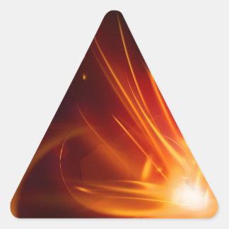 Fogo em nossos corações adesivo triangular