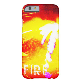 Fogo, laranja, amarelo e vermelho capa barely there para iPhone 6