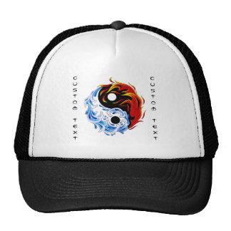 Fogo legal Yin Yang da água do símbolo do tatuagem Boné