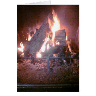 Fogo (vazio para dentro) cartão comemorativo
