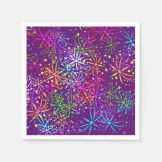 Fogos-de-artifício do arco-íris do guardanapo do