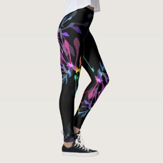 Fogos-de-artifício femininos modernos do arco-íris leggings