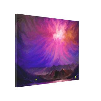 Fogueiras no por do sol - canvas de arte 18x24 de  impressão de canvas esticada