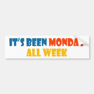 Foi segunda-feira toda a semana adesivo para carro