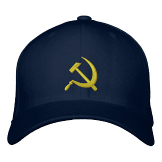 Foice de CCCP & ouro soviéticos do marinho do chap Boné Bordado