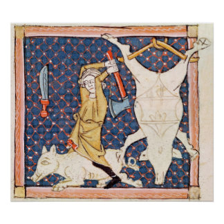Fol.59v dezembro: Porcos da matança Pôster