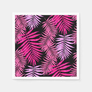 Folha adolescente da palmeira do brilho do falso guardanapo de papel