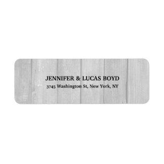 Folha clássica do estilo retro original de madeira etiqueta endereço de retorno