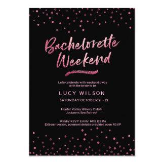 Folha cor-de-rosa do brilho do convite   da festa