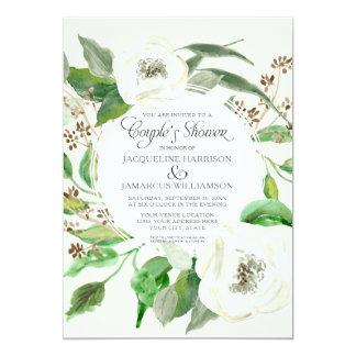 Folha da grinalda da semente do eucalipto do chá convite 12.7 x 17.78cm