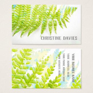 Folha da samambaia, planta exótica, cartão de