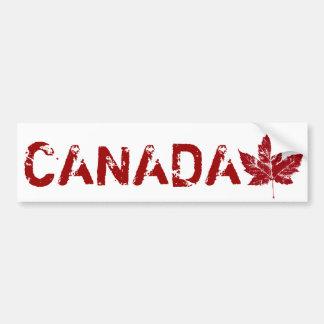 Folha de bordo afligida de Canadá autocolante no v Adesivo