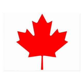Folha de bordo canadense cartão postal