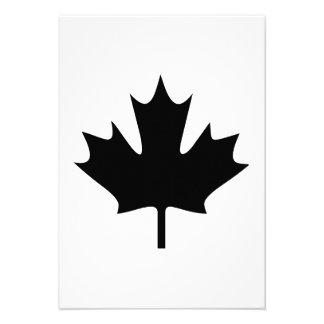 Folha de bordo canadense convite