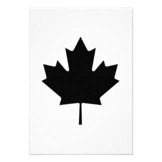 Folha de bordo canadense convites personalizados