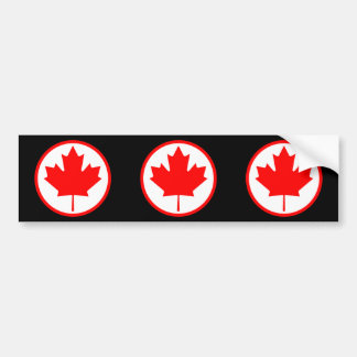 Folha de bordo de Canadá dentro de um anel Adesivo Para Carro