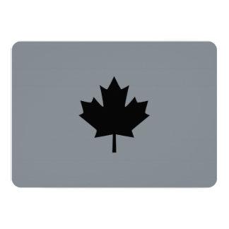 Folha de bordo preta canadense à moda convite 12.7 x 17.78cm