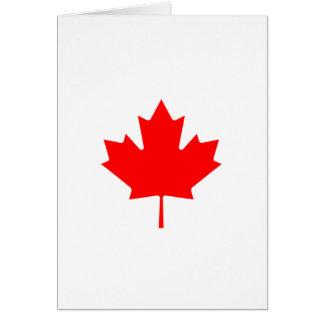 Folha de bordo vermelha cartão comemorativo