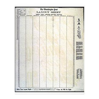 Folha de disposição modelo de panfletos