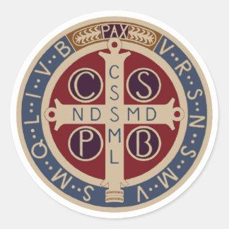 Folha de etiquetas da medalha do St. Benedict Adesivo