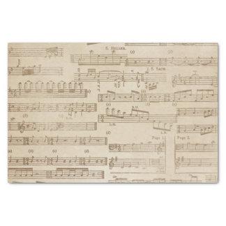Folha de música do vintage papel de seda
