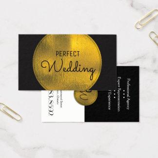 Folha de ouro à moda do cartão de visita do