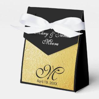 Folha de ouro elegante - caixa do favor do