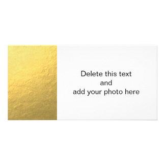 Folha de ouro elegante impressa cartoes com fotos