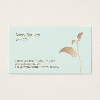 Folha de ouro elegante simples cartão de visitas