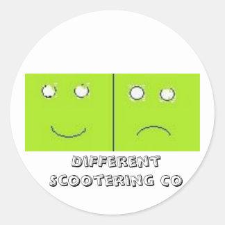 Folha diferente da etiqueta de Scootering Co Adesivo