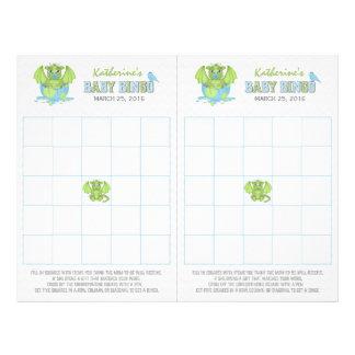 Folha do Bingo do dragão do bebê com os 2 cartões Flyer 21.59 X 27.94cm