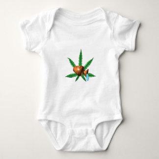 Folha do cannabis do zodíaco do Aquário Camiseta