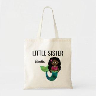 Folha do falso da sereia do afro-americano da irmã bolsa tote