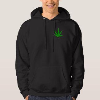Folha do Marijuana-Cannabis por Valxart.com Moleton Com Capuz