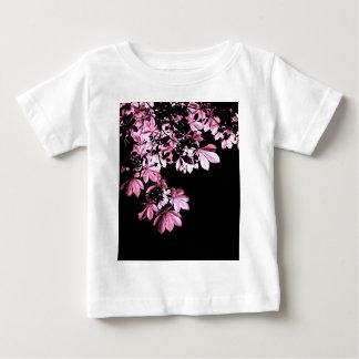 Folha do roxo da arte camiseta para bebê