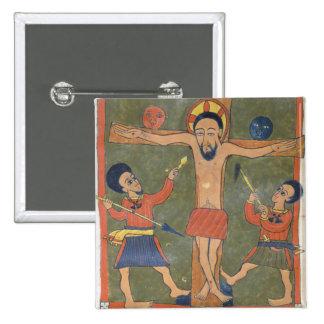 Folha dos evangelho de Gunda Gunde Bóton Quadrado 5.08cm