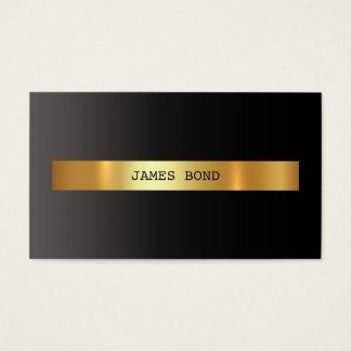 Folha dourada preta Vip de Minimalistic Ombre Vip Cartão De Visitas